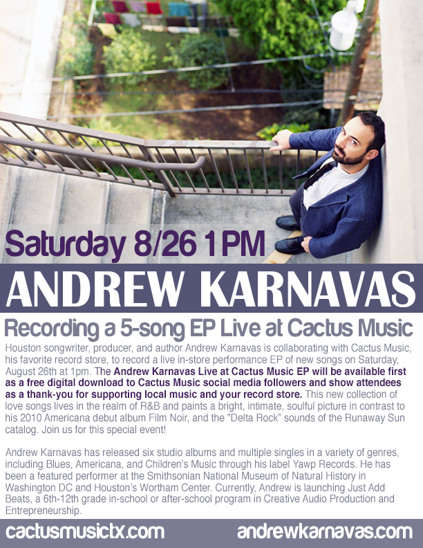 Andrew Karnavas at Cactus Music